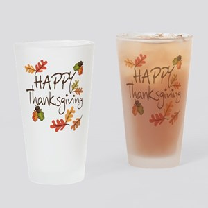 Happy Thanksgiving Drinking Glass