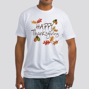 Happy Thanksgiving Fitted T-Shirt