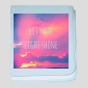 Let your light shine baby blanket