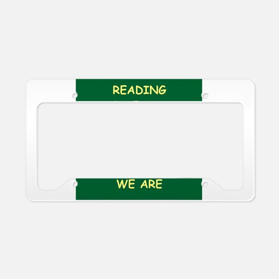 reading License Plate Holder