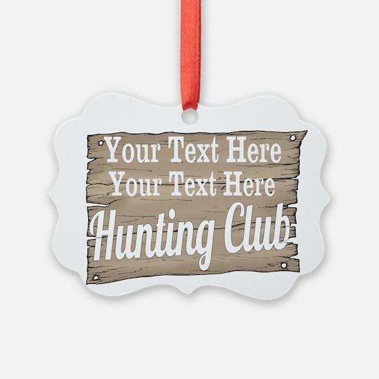 Vintage Hunting Club Ornament