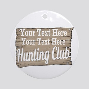 Vintage Hunting Club Ornament (Round)