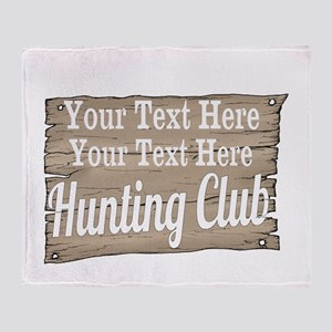 Vintage Hunting Club Throw Blanket