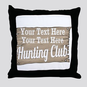 Vintage Hunting Club Throw Pillow