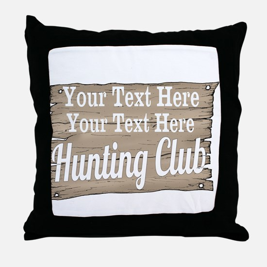 Vintage Hunting Club Throw Pillow