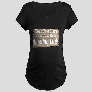 Vintage Hunting Club Maternity T-Shirt