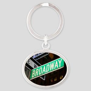 broadway3 Oval Keychain