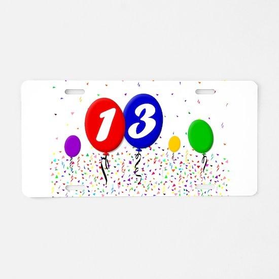 13th Birthday Aluminum License Plate
