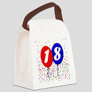 18th Birthday Canvas Lunch Bag