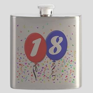 18th Birthday Flask
