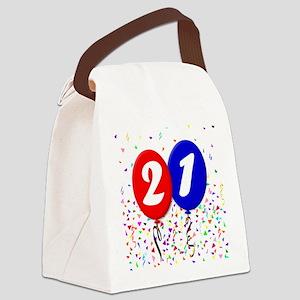 21st Birthday Canvas Lunch Bag