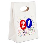 21st Birthday Canvas Lunch Tote
