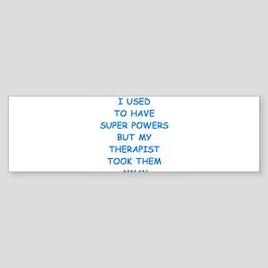super powers Bumper Sticker