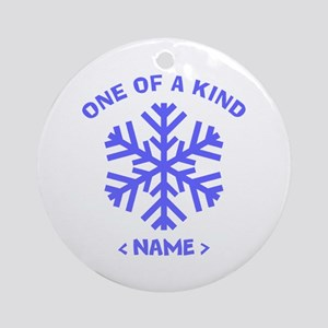 Personalize Christmas Snowflake Ornament (Round)