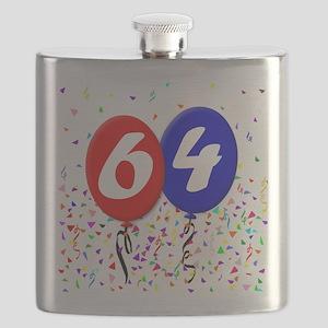 64th Birthday Flask