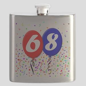 68th Birthday Flask