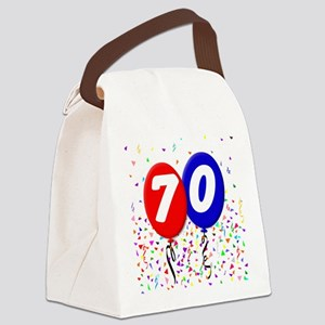 70th Birthday Canvas Lunch Bag