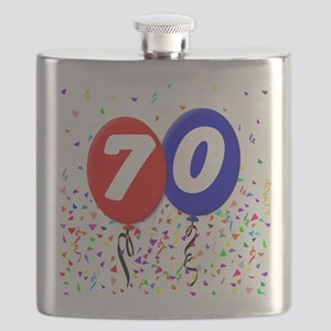 70th Birthday Flask