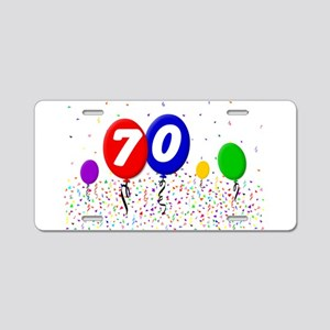 70th Birthday Aluminum License Plate