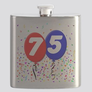 75th Birthday Flask