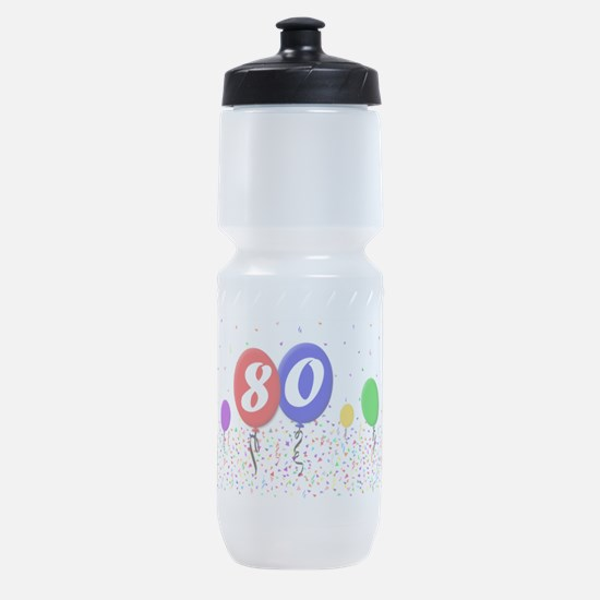 80th Birthday Sports Bottle