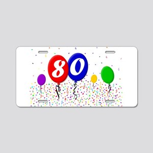 80th Birthday Aluminum License Plate