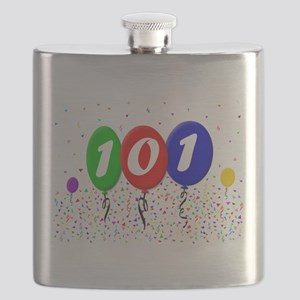 101st Birthday Flask