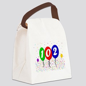 102nd Birthday Canvas Lunch Bag