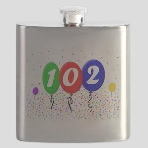 102nd Birthday Flask