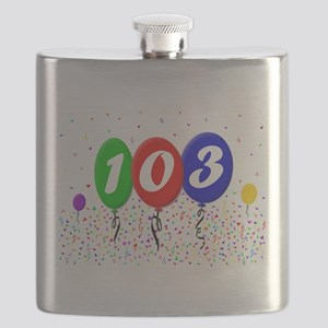 103rd Birthday Flask