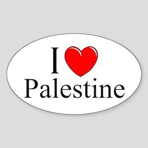 """""""I Love Palestine"""" Oval Sticker"""