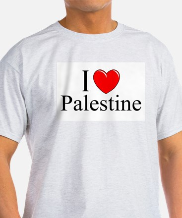 """I Love Palestine"" Ash Grey T-Shirt"