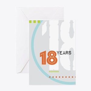 AA Anniversary 18 Years Greeting Cards
