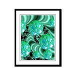 Emerald Satin Dreams Framed Panel Print