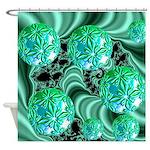 Emerald Satin Dreams Shower Curtain