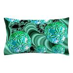 Emerald Satin Dreams Pillow Case