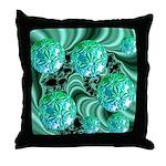 Emerald Satin Dreams Throw Pillow