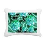 Emerald Satin Dreams Rectangular Canvas Pillow