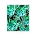 Emerald Satin Dreams Throw Blanket