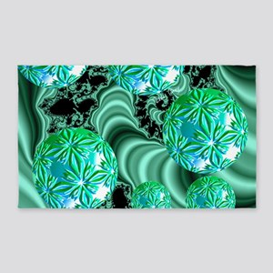 Emerald Satin Dreams 3'x5' Area Rug