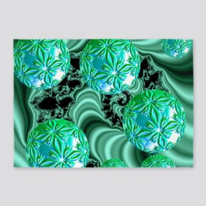 Emerald Satin Dreams 5'x7'Area Rug