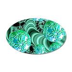 Emerald Satin Dreams 20x12 Oval Wall Decal