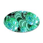 Emerald Satin Dreams 35x21 Oval Wall Decal