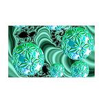Emerald Satin Dreams 35x21 Wall Decal