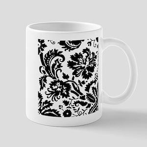Black and white damask Mugs
