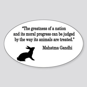 Moral Values Quote Oval Sticker