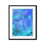 Inner Flow VI Azure Spheres Framed Panel Print