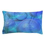 Inner Flow VI Azure Spheres Pillow Case