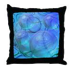 Inner Flow VI Azure Spheres Throw Pillow