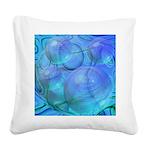Inner Flow VI Azure Spheres Square Canvas Pillow